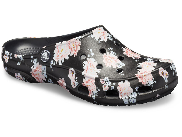 Crocs Freesail Printed Clogsit Naiset, floral/black
